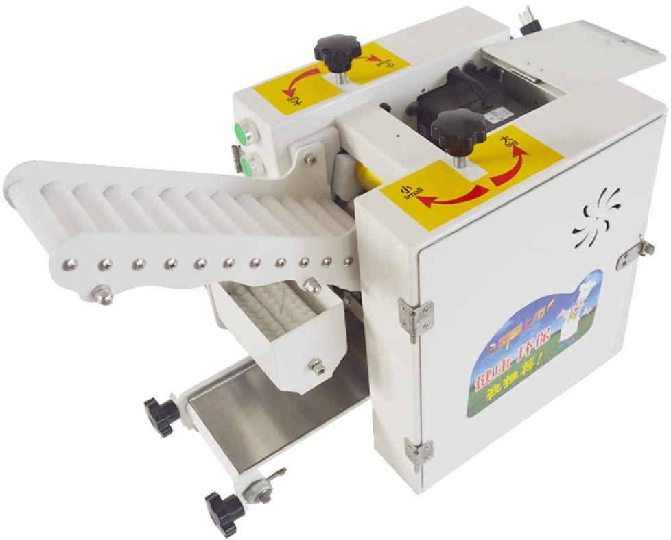TECHTONGDA 110V Automatic Dumpling Wrapper Foreskin Maker Dumpling Wonton Noodle Wrapping Machine