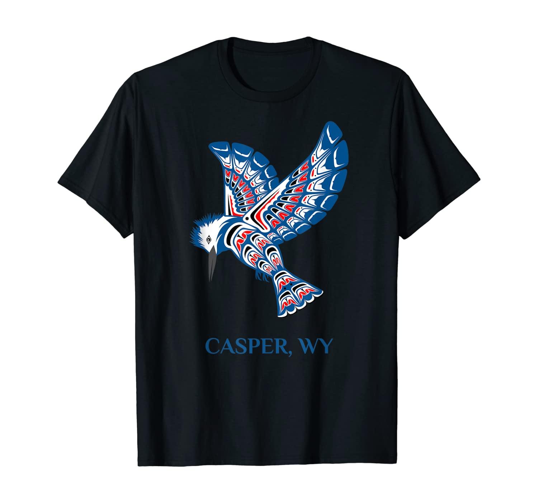 Casper Wyoming Native American Indian Kingfisher Bird T-Shirt