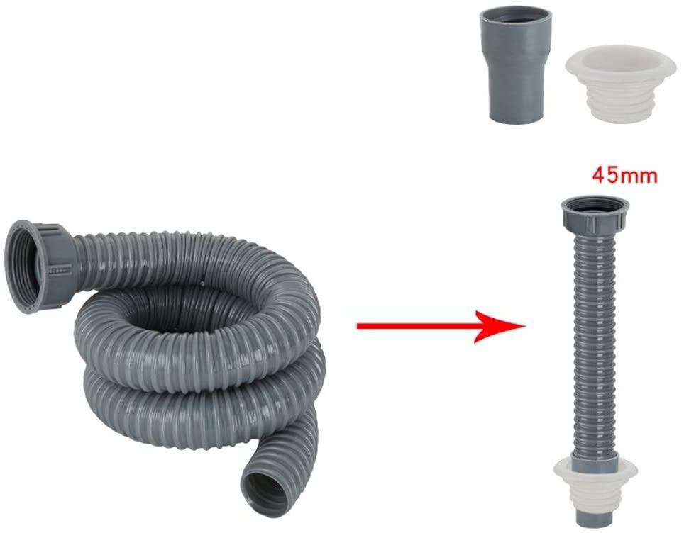 Hose Sink Drain Tube Drain Pipe Plastic Double Head Single Head Kitchen Sink Leaking Pipe Accessories MUMUJIN (Size : 5M)