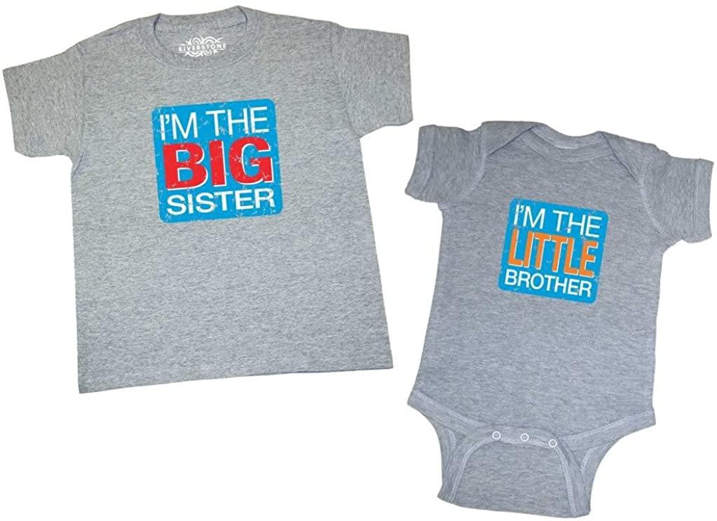 Baby Coming! Big Sister & Little Brother T-Shirt & Newborn Bodysuit