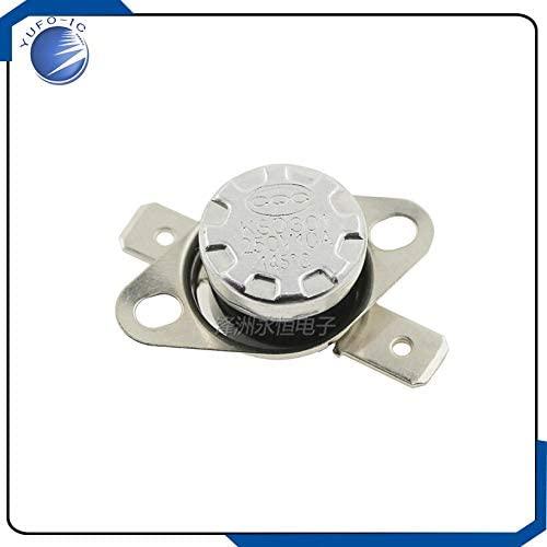 KSD301 /115/120/125/130/135/140/145/150/155/160/180/190C Degree Normally Closed Thermostat Switch Temperature Control 10A250V - (Color: 135 Deg)