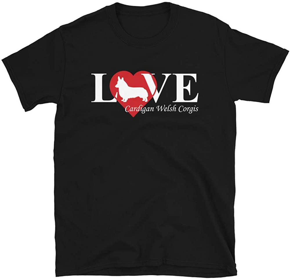 Cardigan Welsh Corgi Love Short-Sleeve Unisex T-Shirt