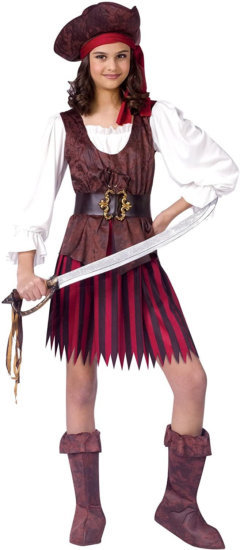 High Seas Buccaneer Girl Kids Costume