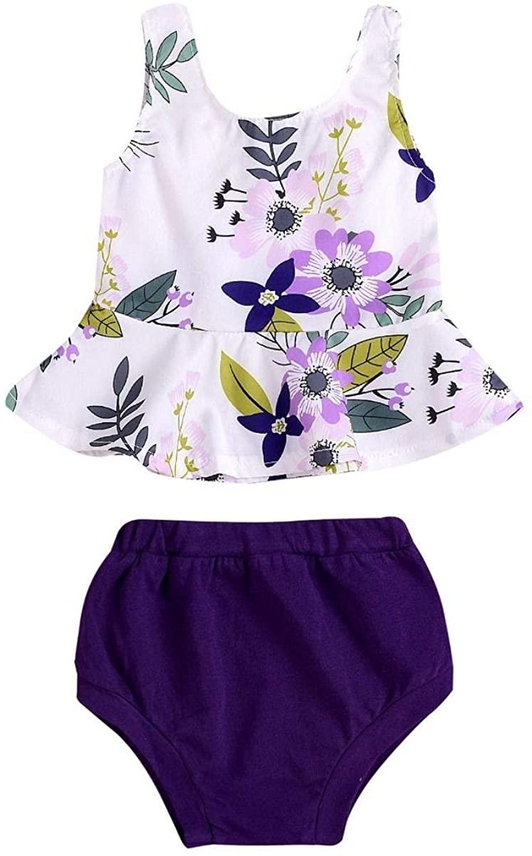 2-Piece Summer Baby Girl Flower