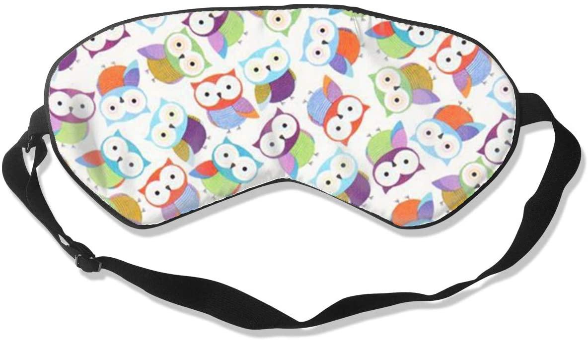 Sleep Eye Mask For Men Women,Owls Soft Comfort Eye Shade Cover For Sleeping