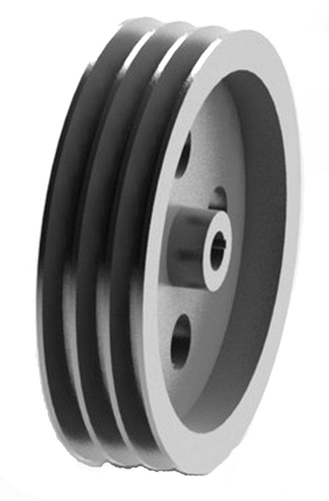 SPC 160X3-CI Ametric Metric Cast Iron V Belt Pulley, for SPC Profile V-Belt, 3 Groove, 160 mm Pitch Diameter, (Mfg Code 1-033)