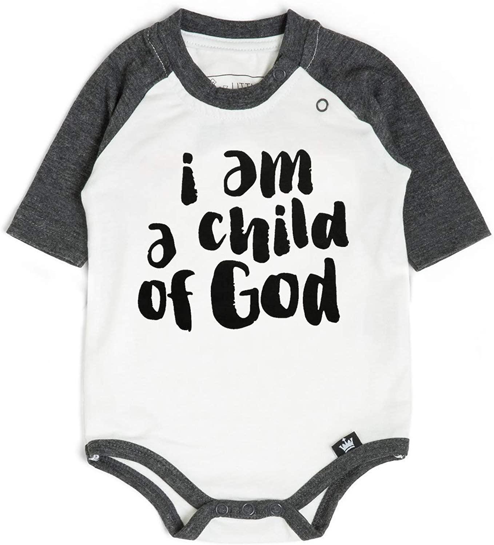 Littlest Prince Religious Graphic Jesus Raglan Bodysuits & Shirts
