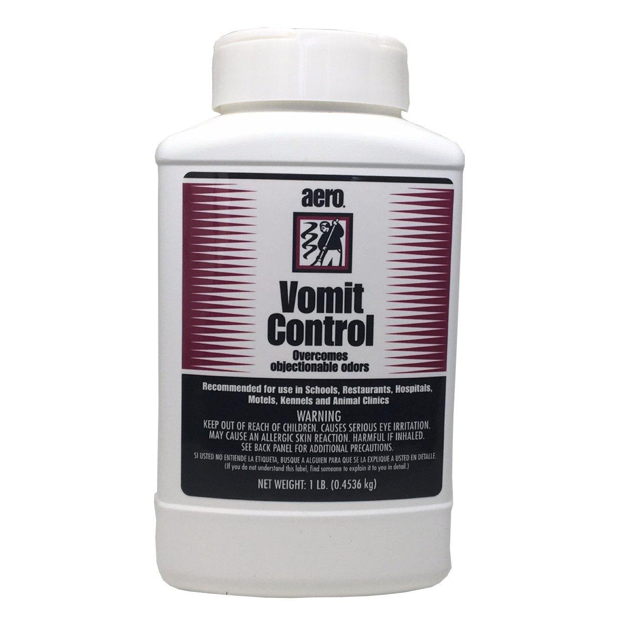 Vomit and Smelly Liquid Absorbent and Deodorizer, Vomit Control Granular, 1 lb Bottle (4 Bottles)