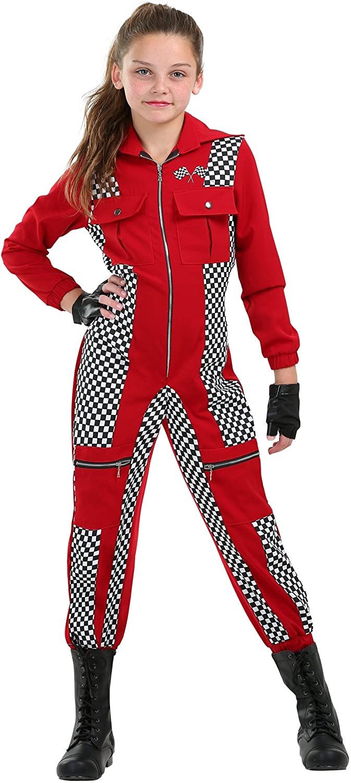 Racer Jumpsuit Girls Costume