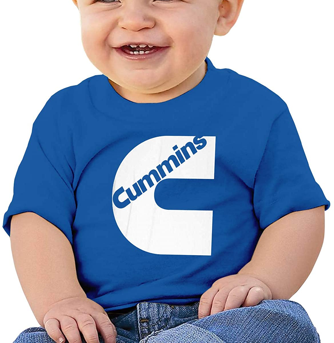 6-24 Month Baby T-Shirt Cummins Logo Unique Blue
