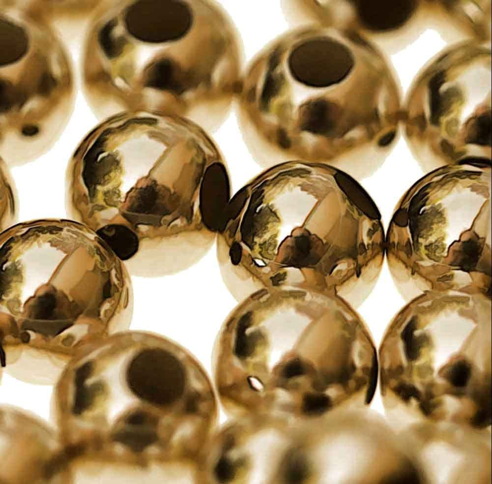 14kt 3mm Round Smooth Beads 14k Gold (Qty=10)