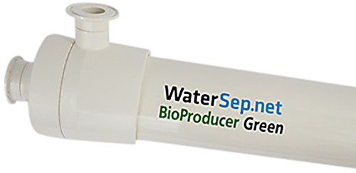 WaterSep SU 300 10PRO24 S3 BioProducer24 Green Line Single Use Hollow Fiber Cartridge, 300K Membrane Cutoff, 1 mm ID, 89 mm Diameter, 673 mm Length, Polyethersulfon/Polysulfone/Epoxy (Pack of 3)