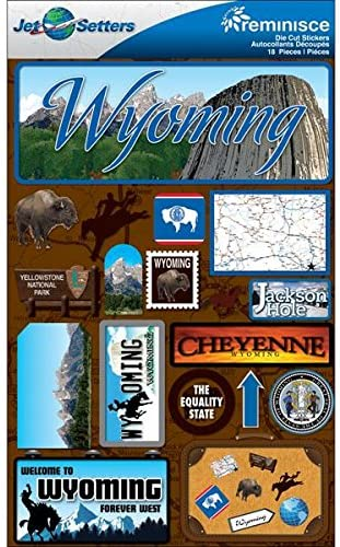 Reminisce Jet Setters 2 3-Dimensional Sticker, Wyoming
