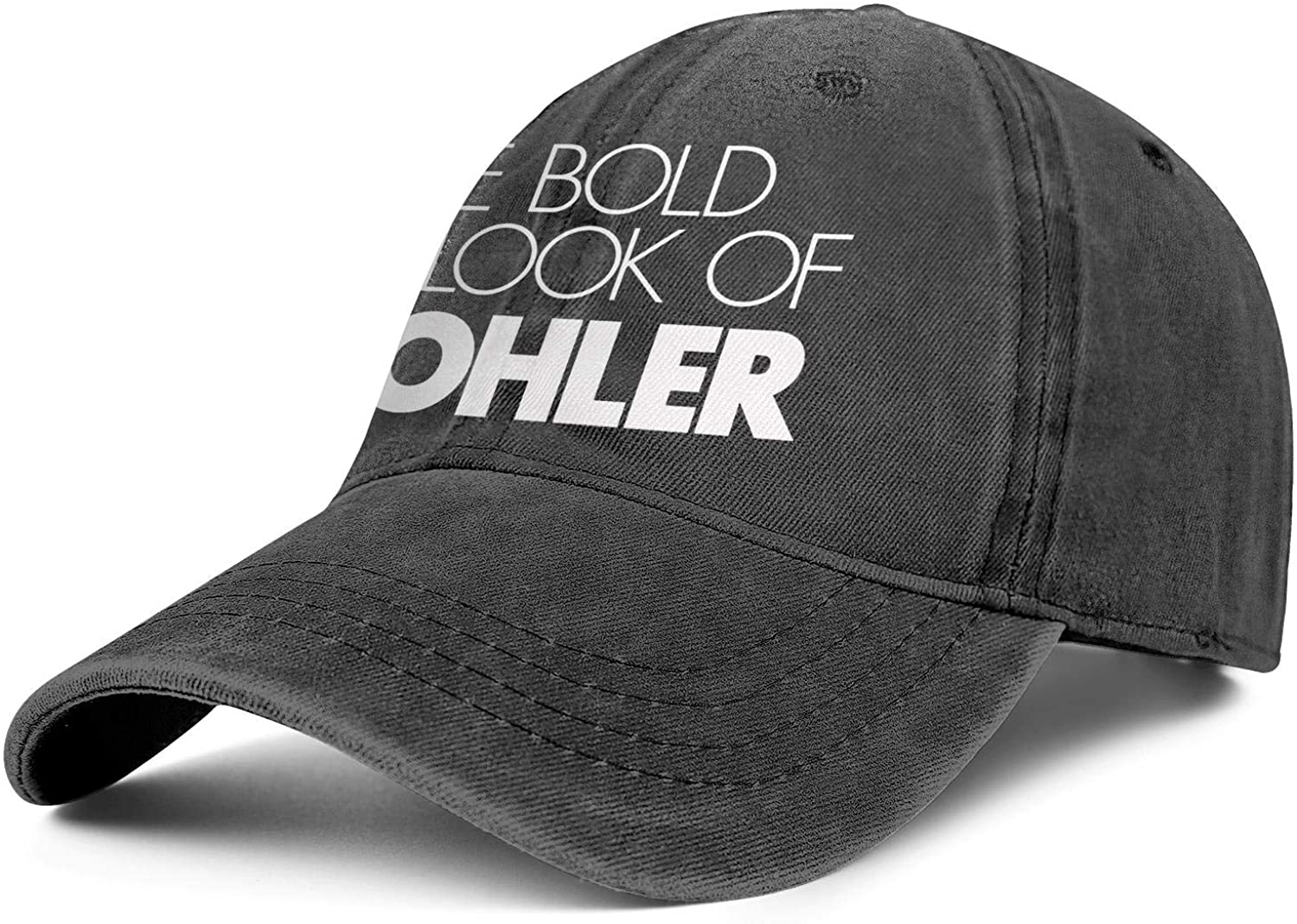 Vintage Washed Cap The-Bold-Look-of-Kohler-White-Logo- Pattern Unisex Dad Adjustable Hats