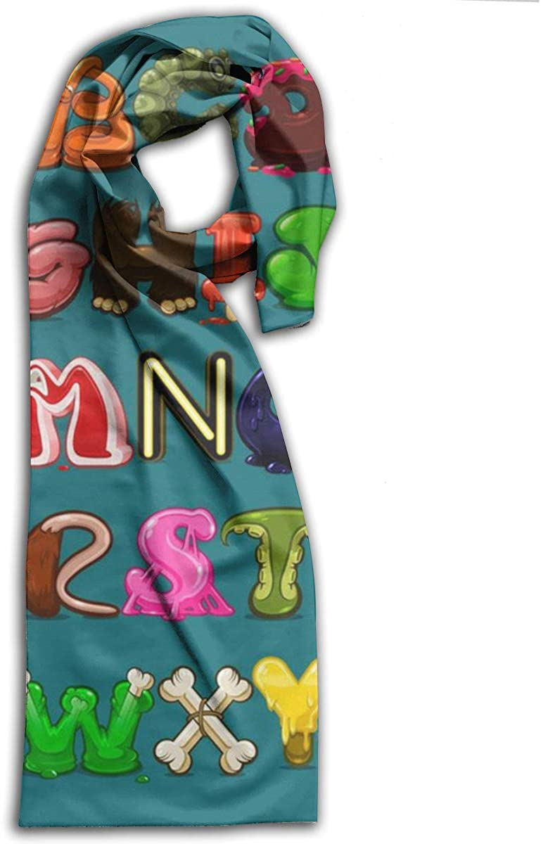 Adult Scarf,Colorful Alphabet Wraps Beautiful Shawls Soft Scarves For Men And Women