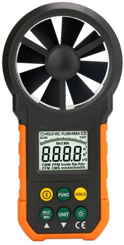 WXQ-XQ Anemometer, Handheld High Precision Digital Anemometer Airflow Test Metering Environment Temperature Humidity USB Tester