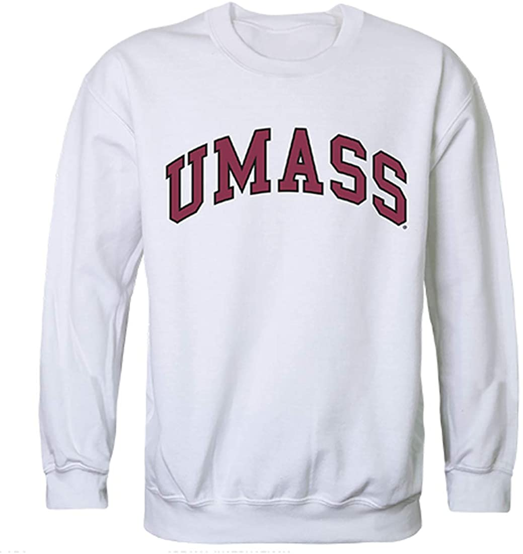 UMass University of Massachusetts NCAA Mens Campus Crewneck Fleece Sweatshirt