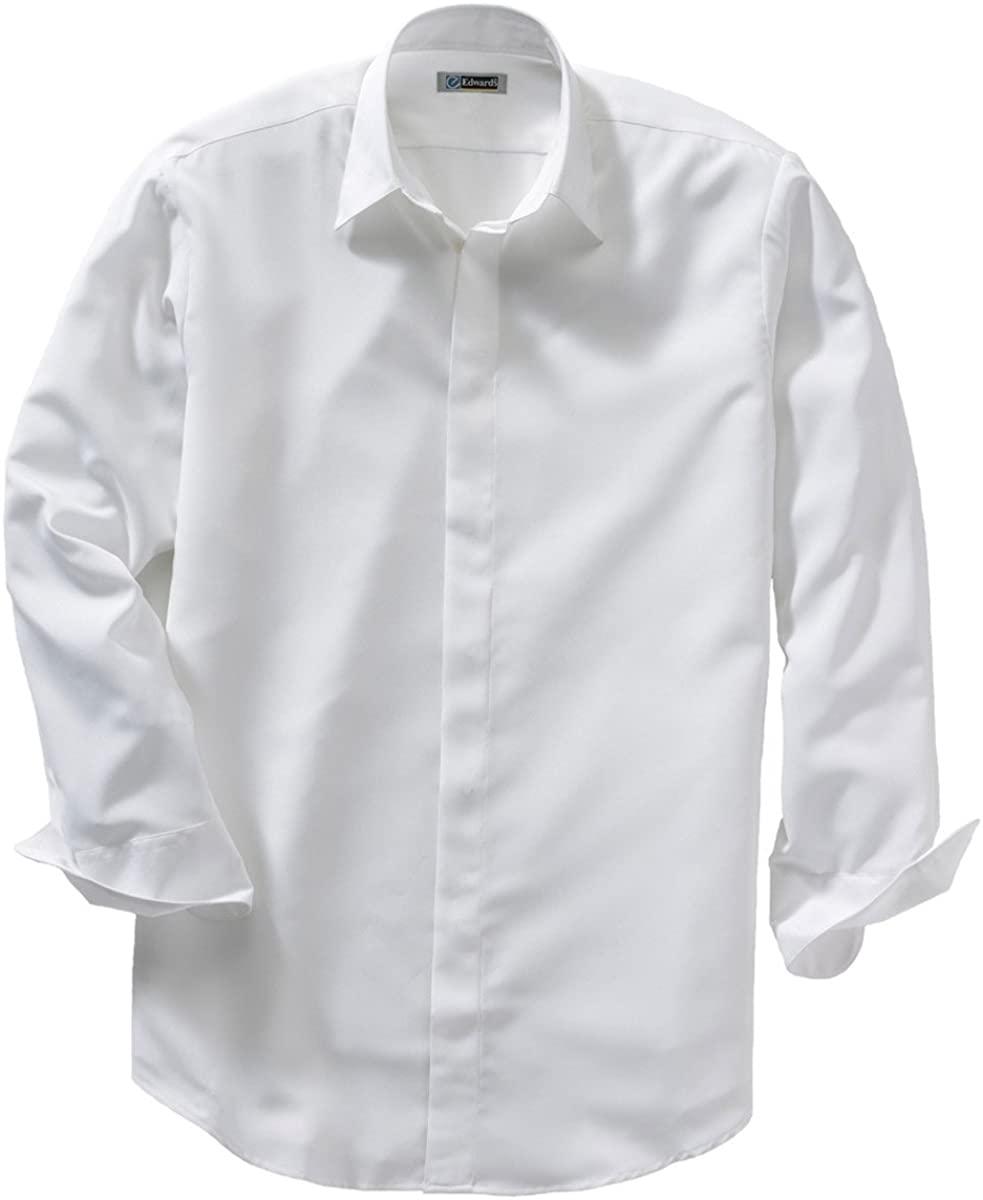 Edwards Garment Mens Big and Tall Adjustable Cuff Cafe Shirt