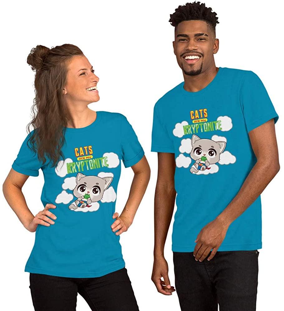 Cats are My Kryptonite Short-Sleeve Unisex T-Shirt
