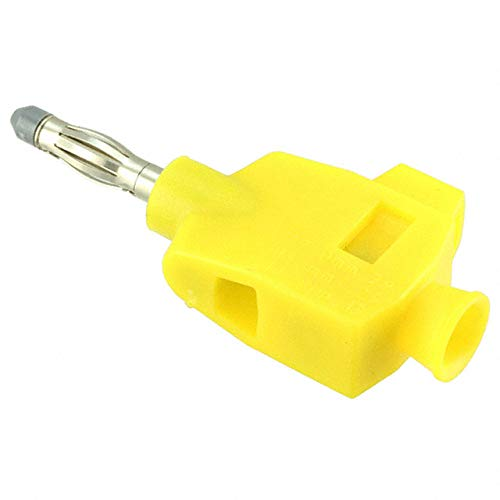 Cal Test CT3249-4 DIY Quick Connect solderless straight banana plug, Yellow, Qty 10