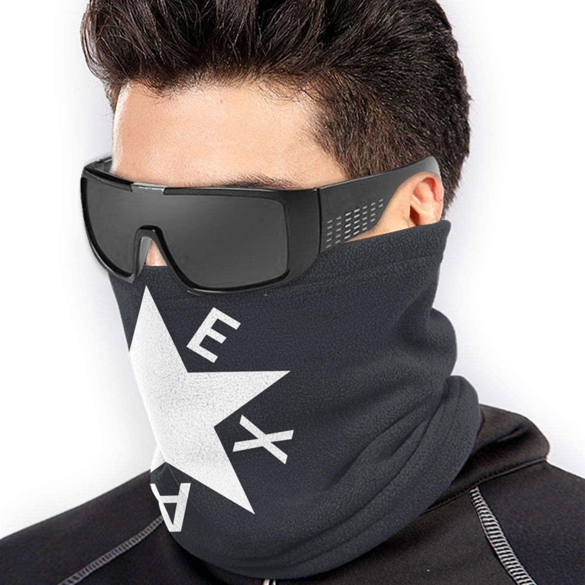 Texas De Zavala Flag Unisex Microfiber Neck Warmer Headwear Face Scarf Mask For Winter Cold Weather Mask Bandana Balaclava