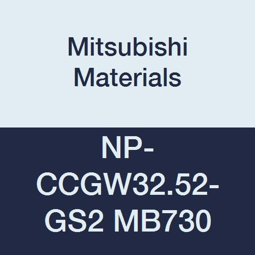 Mitsubishi Materials NP-CCGW32.52-GS2 MB730 CBN CC Type Petit Tip Positive Turning Insert with Hole, General Cutting Rhombic 80°, Grade MB730, GS Honing/No Wiper, 2 Tip, 0.031