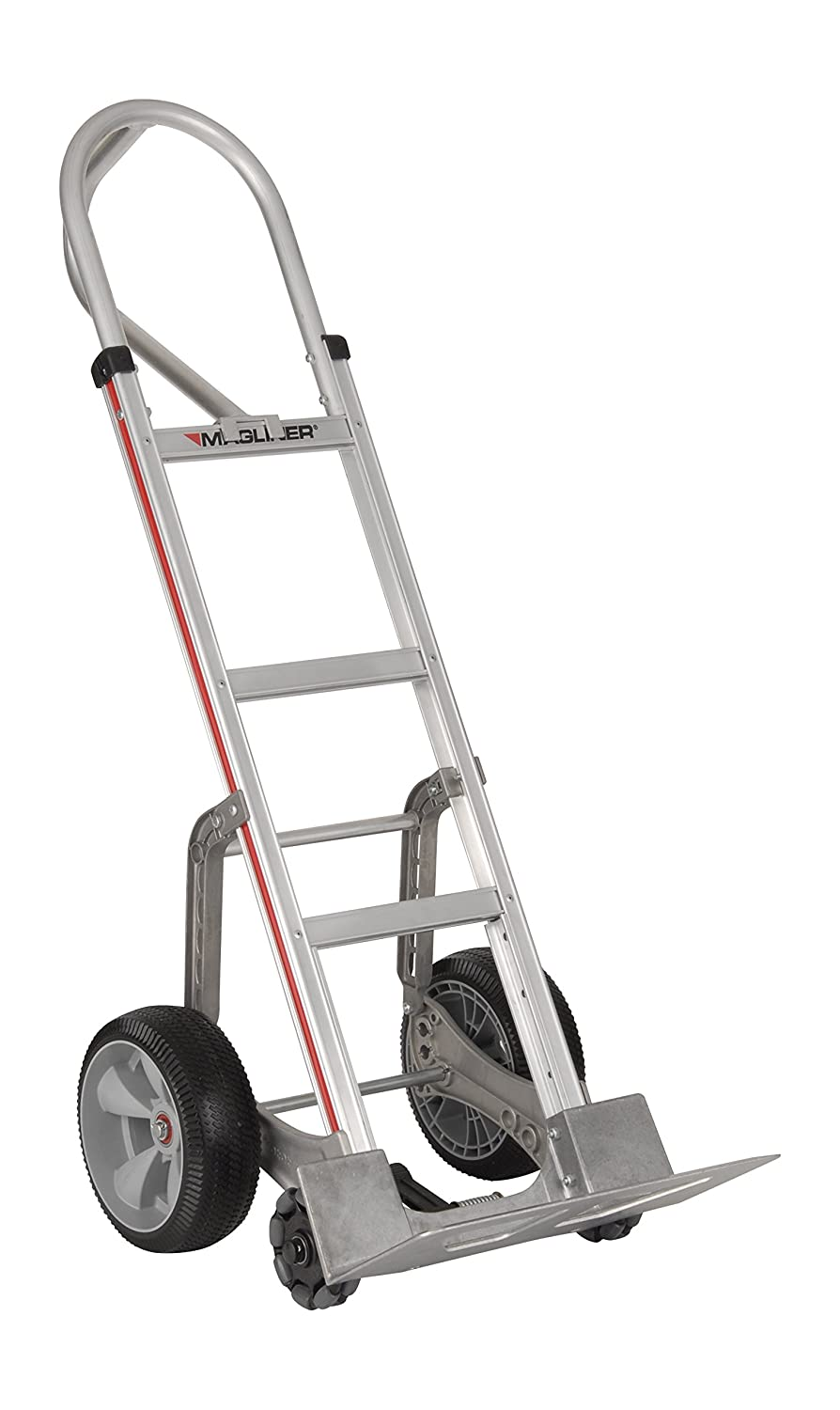 Magliner HRK15AUAE3 Self-Stabilizing Hand Truck, Vertical Loop Handle, Interlocked Microcellular Foam Wheels, Straight Back Frame, 500 lb Capacity