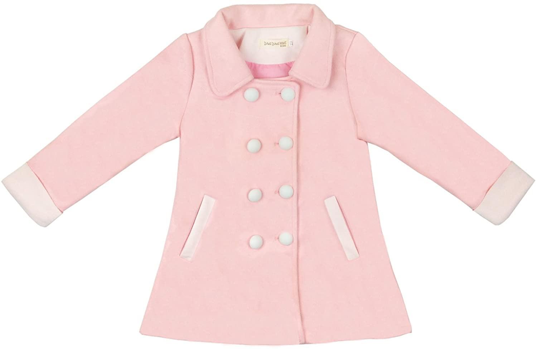 QQBBGL Girls Dress Jackets Big Childrens Solid Color Coats Little Kids Casual Outerwear