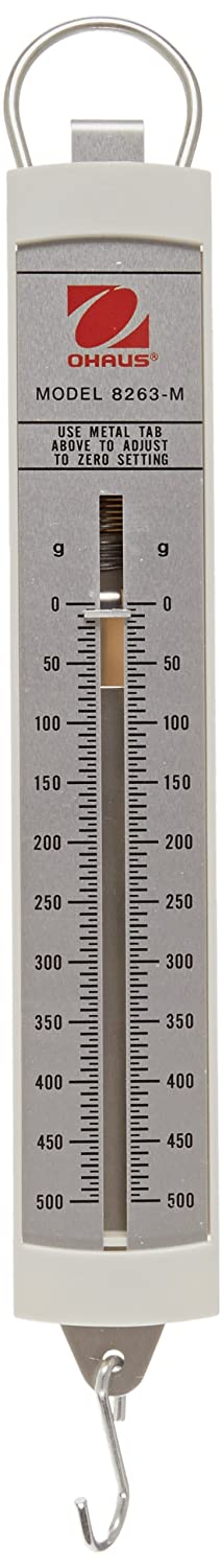 Ohaus 8263-M0 Pull Type Spring Scale, 500g Capacity, 5g Readability