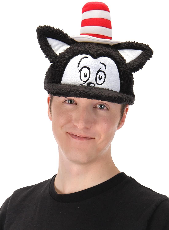 elope Dr. Seuss Cat in The Hat Costume Fuzzy Cap Black