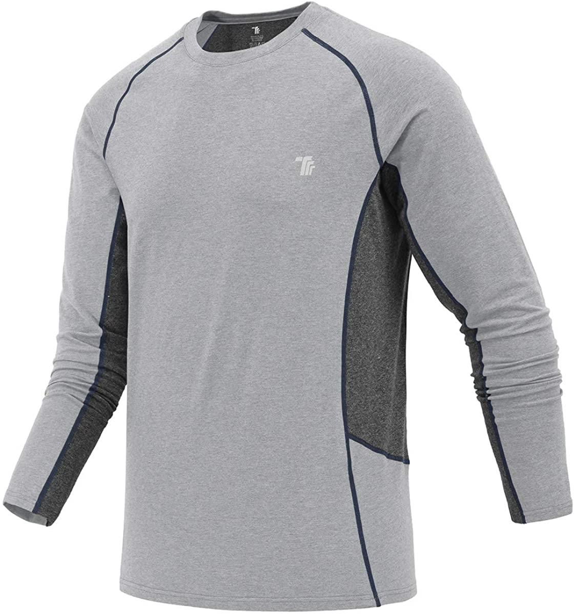 YSENTO Men's Outdoor Sports Long Sleeve Dry Performance Training Workout Shirts