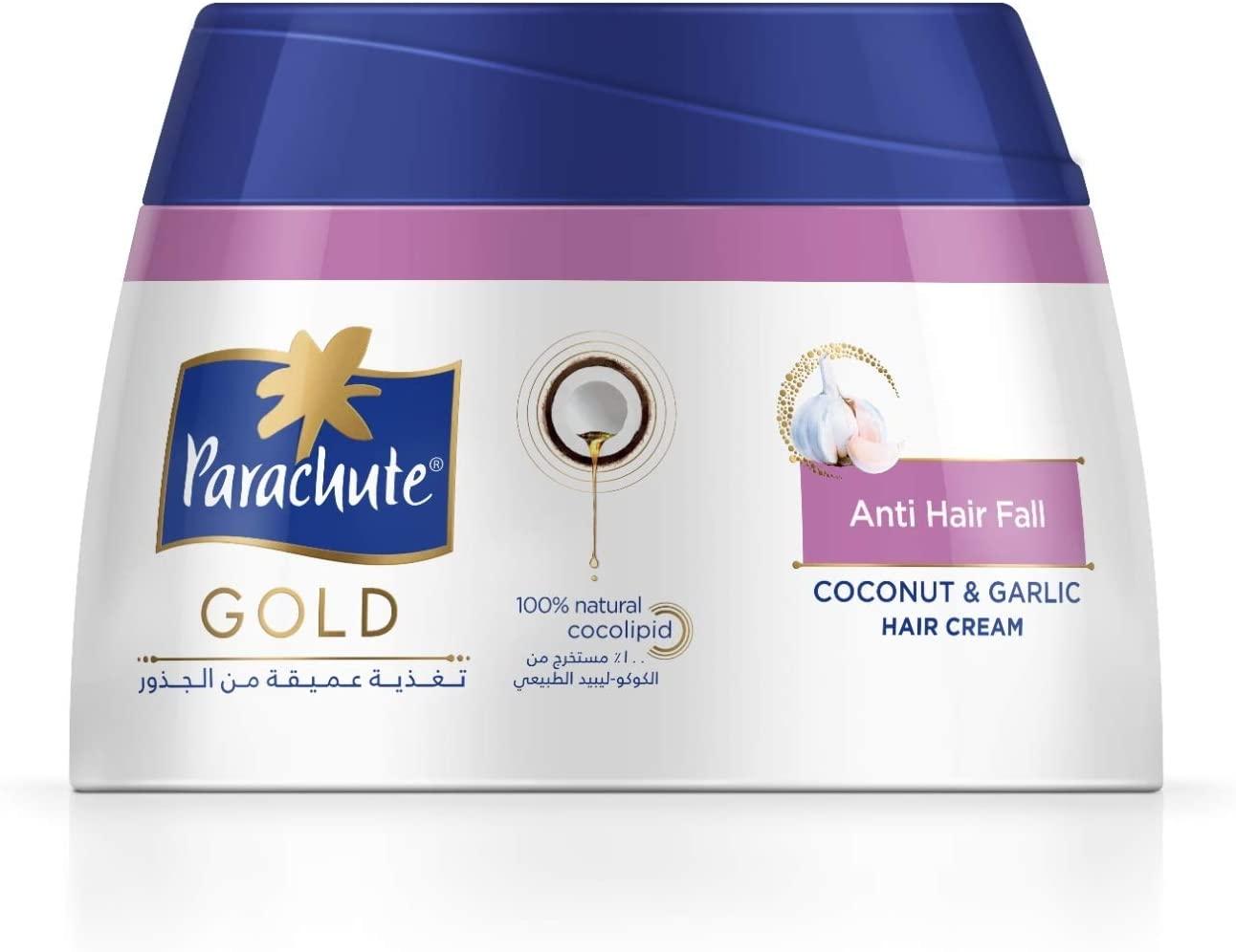 Parachute Gold Coconut & Garlic Hair Cream 140ml(pack of 3) -Anti Hair Fall