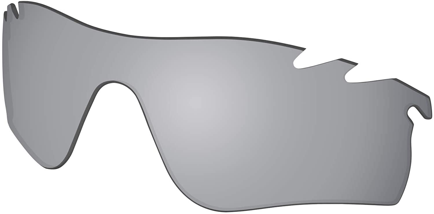 Polycarbonate Lenses Replacement for Oakley RadarLock Path Vented Sunglass Frame - Silver Mirror