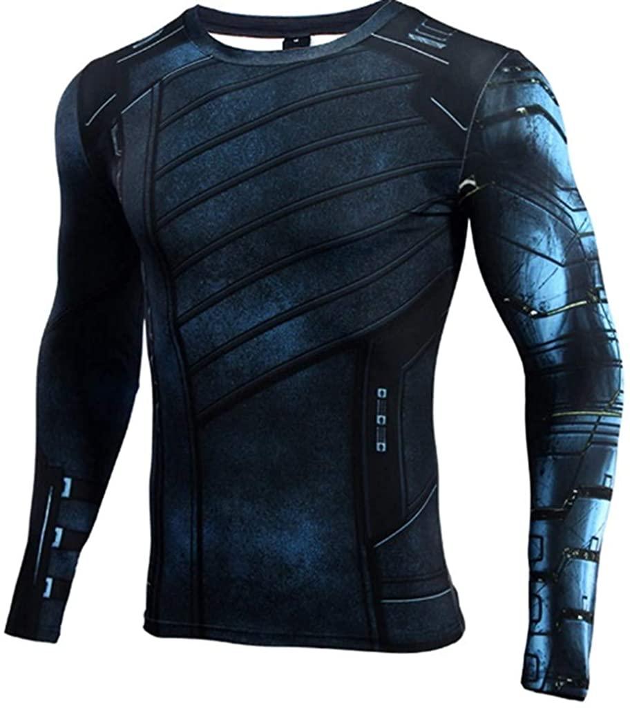 Ampparels Superhero Shirt Compression Sports Shirt Fitness Men Base Layer