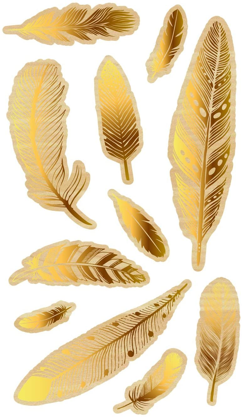 Momenta Feathers Wood Stickers