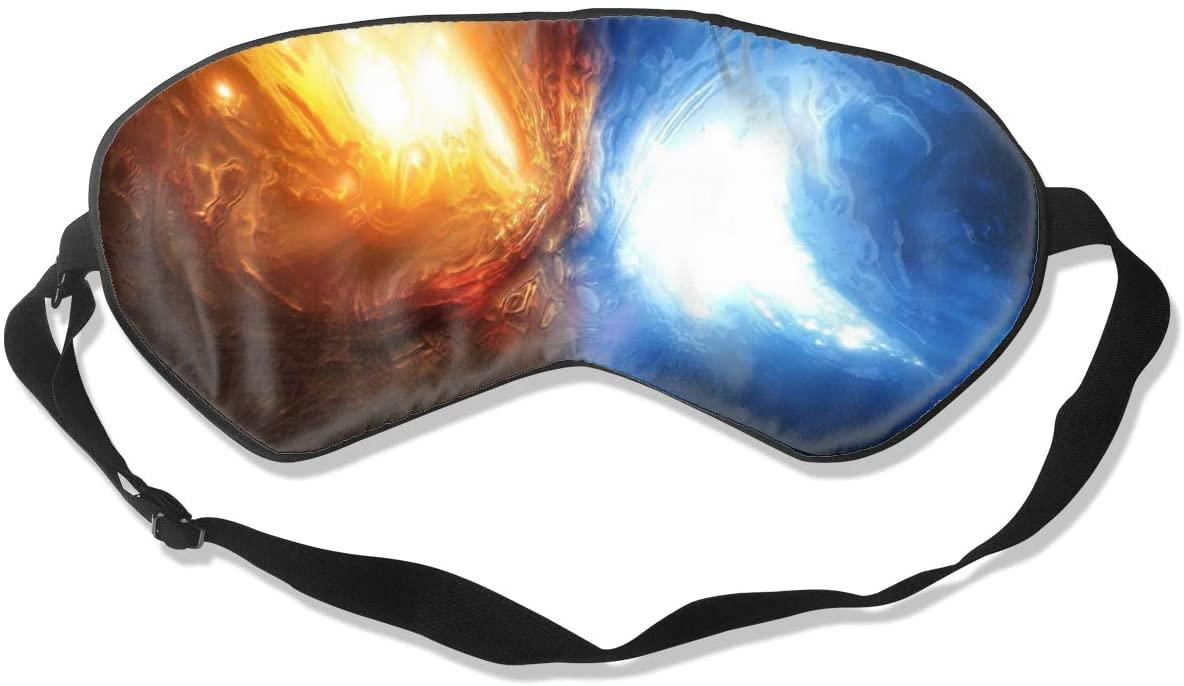 Collision of Ice with Fire Eye Mask Sleeping Mask 100% Double-Sided Silk Eyeshade Eye Cover