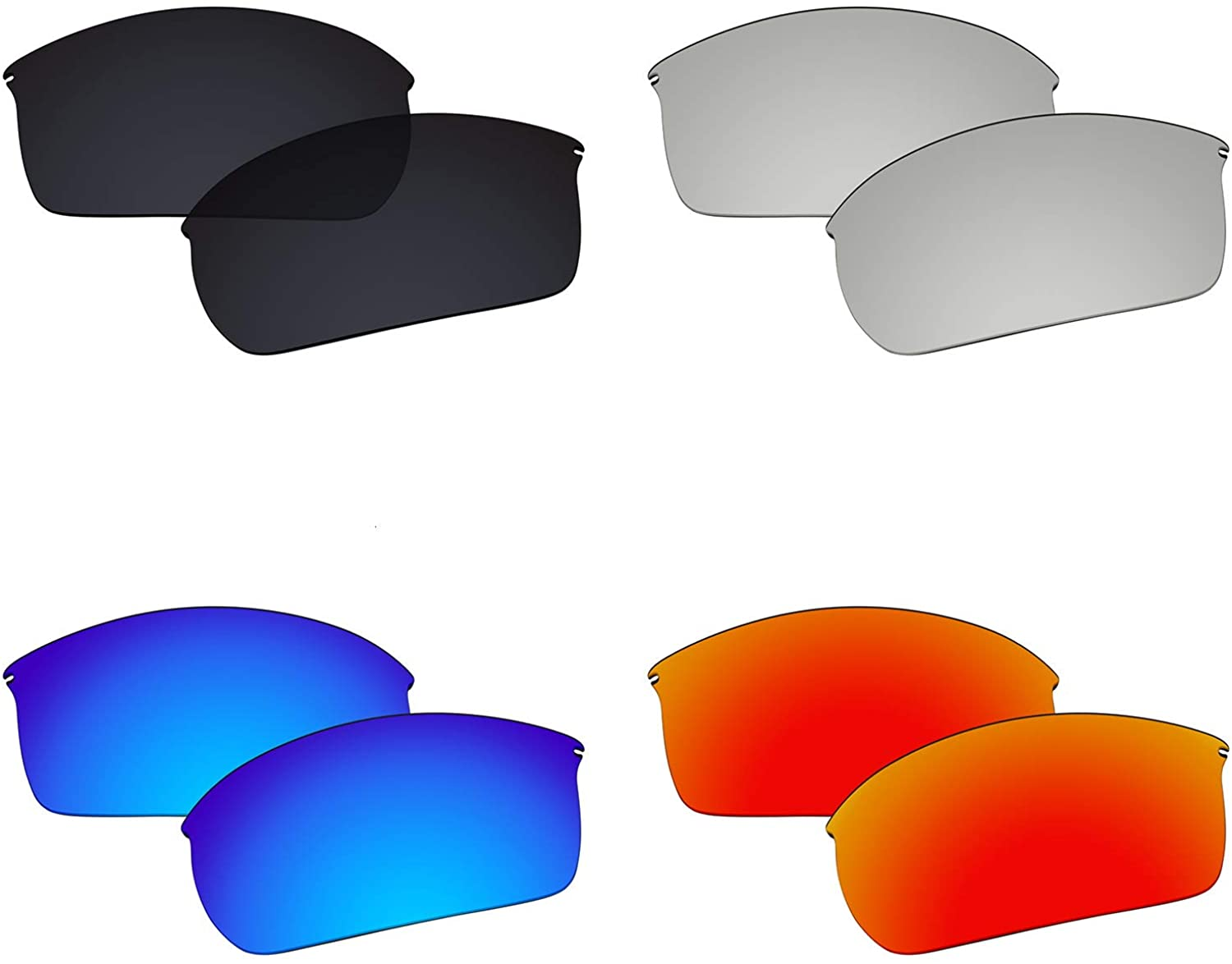 Galvanic 4 Pairs Polarized Replacement Lenses for Oakley Wiretap OO4071 Pack P03