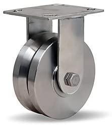 Hamilton Stainless Steel V-Grooved Caster - 5