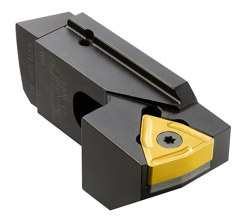 Sandvik Coromant L190.1-K080J008-T33 Steel T-Max Cartridge for Solid Insert, Left Hand Cut, 34 mm Shank Width