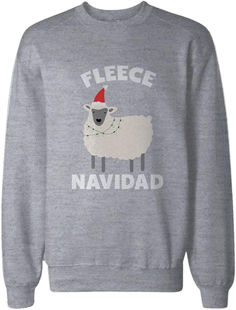 365 Printing Fleece Navidad Christmas Grey Sweatshirt