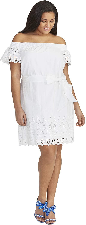 RACHEL Rachel Roy Women's Plus Size Ilenia Off The Shoulder Dress
