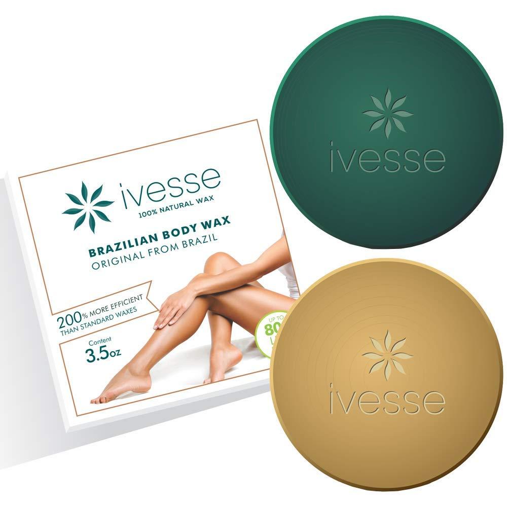 Ivesse Brazilian Body Hard Wax 100% Natural [1.1lb]