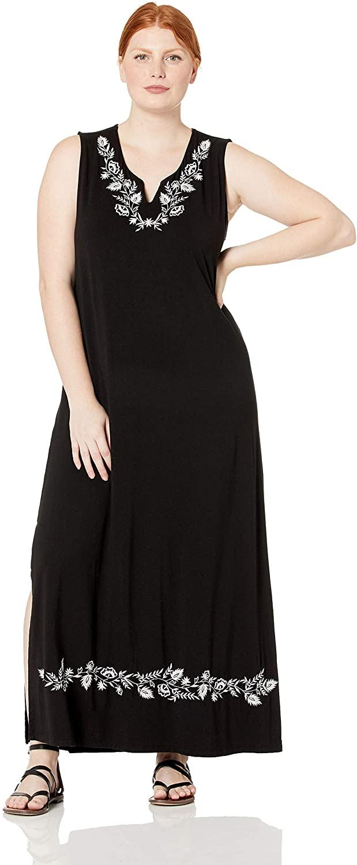 Karen Kane Women's Plus Size Embroidered Maxi Dress