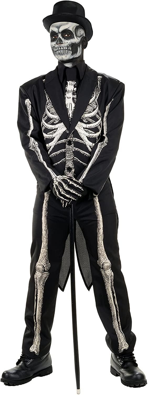 Underwraps Men's Costumes Bone Chillin Skeleton Costume Tuxedo