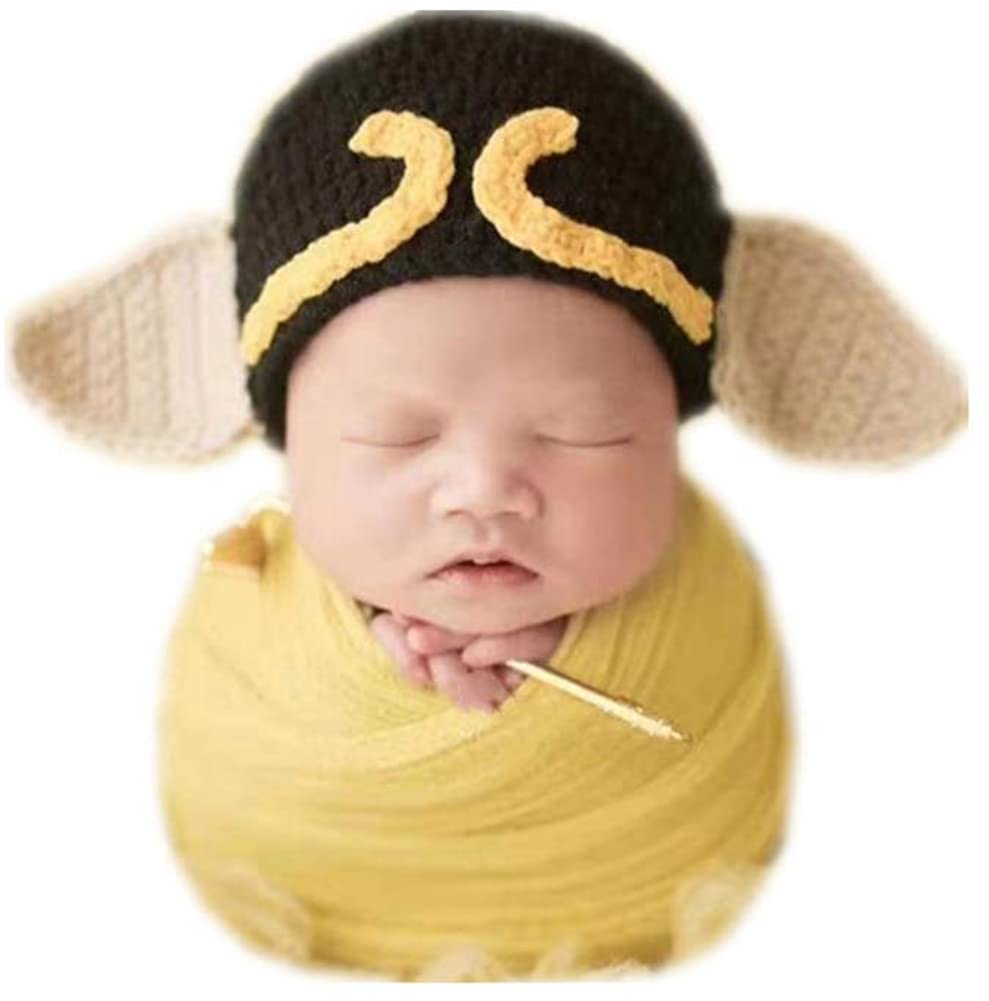 Infant Newborn Monthly Baby Boys Girls Photography Props Cool Boy Hat with Blanket Wrap Set