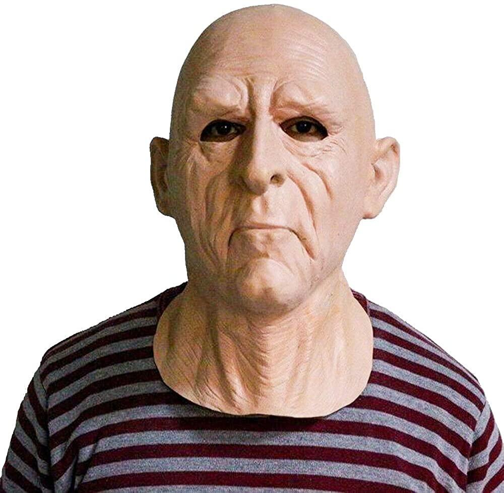 Realistic Old Man Mask Latex Mask Male Full Overhead Halloween Latex Cosplay Human