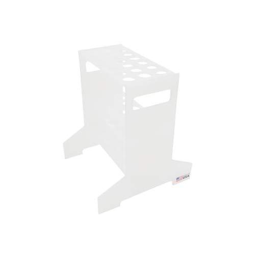 Dynalon 1212X18EA 103215-0001 Polypropylene Short Hydrometer 18 Place Storage Rack, 8-1/4