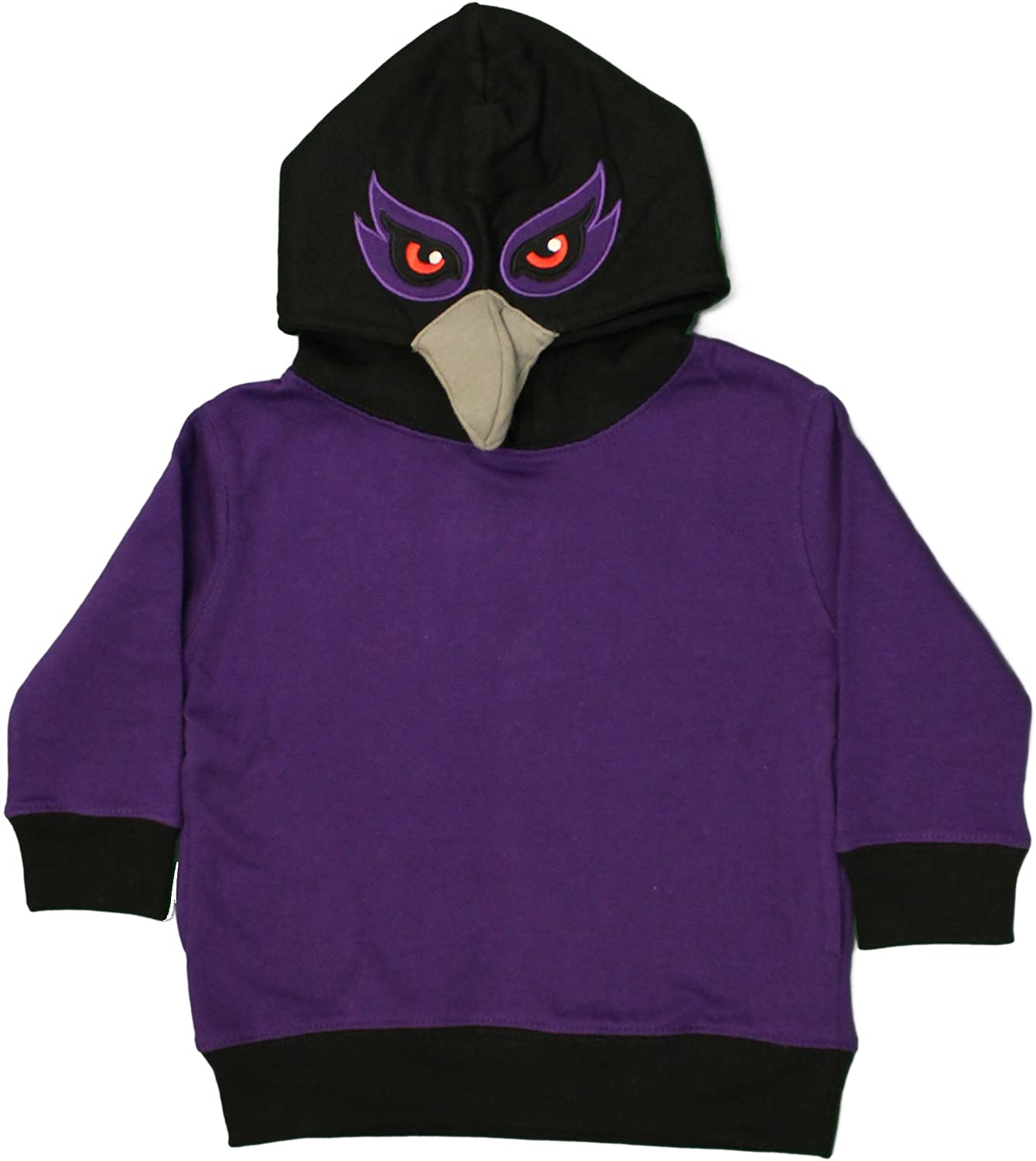 Baltimore, Maryland Purple Friday Raven Face Toddler Size Costume Hoodie, Boys 2-4