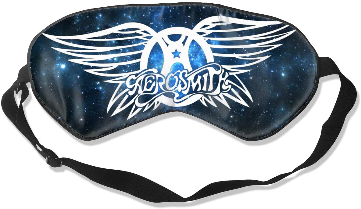 WushXiao Luanelson Aerosmith Fashion Personalized Sleep Eye Mask Soft Comfortable with Adjustable Head Strap Light Blocking Eye Cover