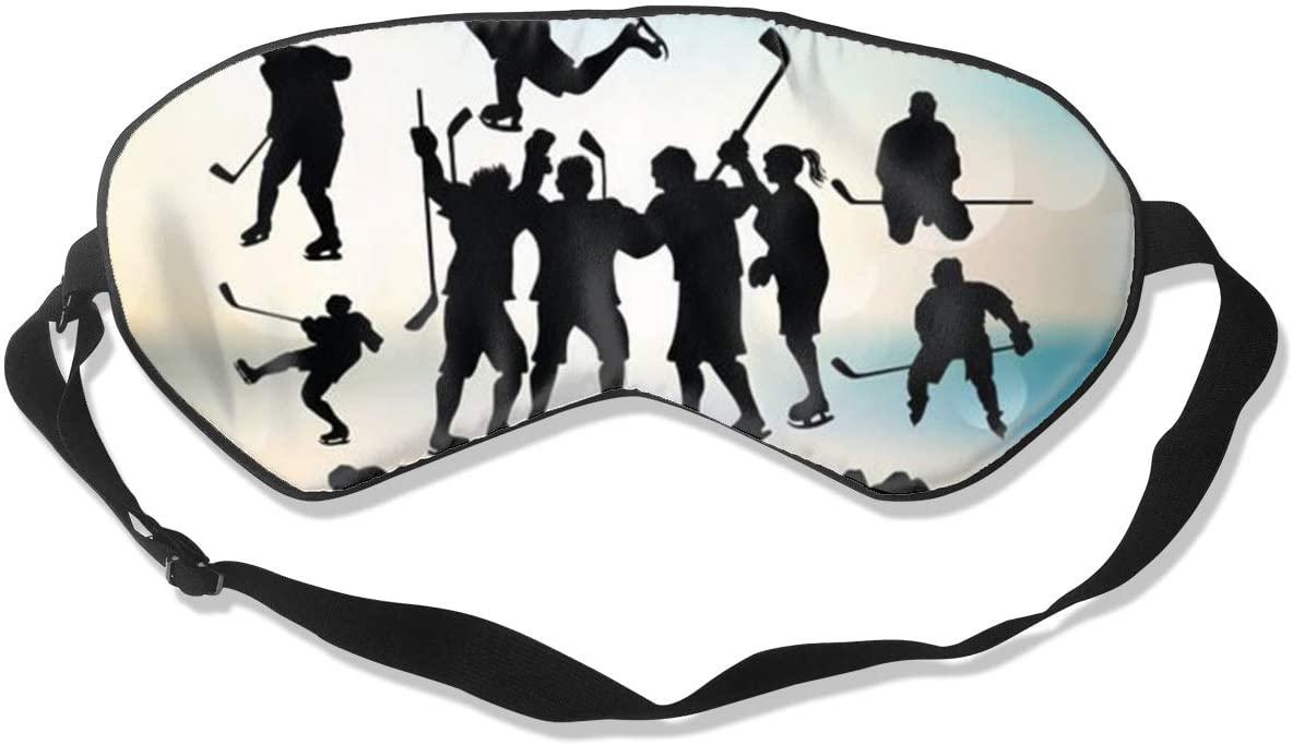 Sleep Eye Mask For Men Women,Ice Hockey Soft Comfort Eye Shade Cover For Sleeping